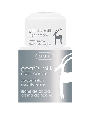 Crema fata hidratanta de noapte cu lapte de capra ziaja 50 ml Imagine 1