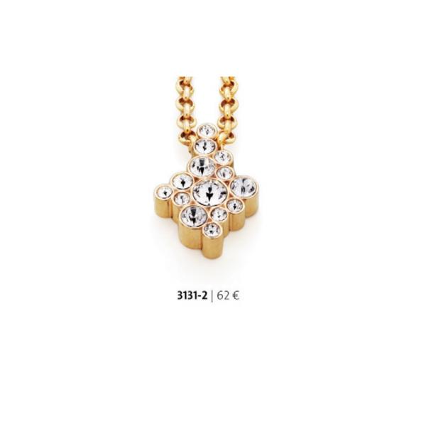 Pandantiv placat cu aur de 18 k cu cristale swarovski –  cod 3131-2 Imagine 1
