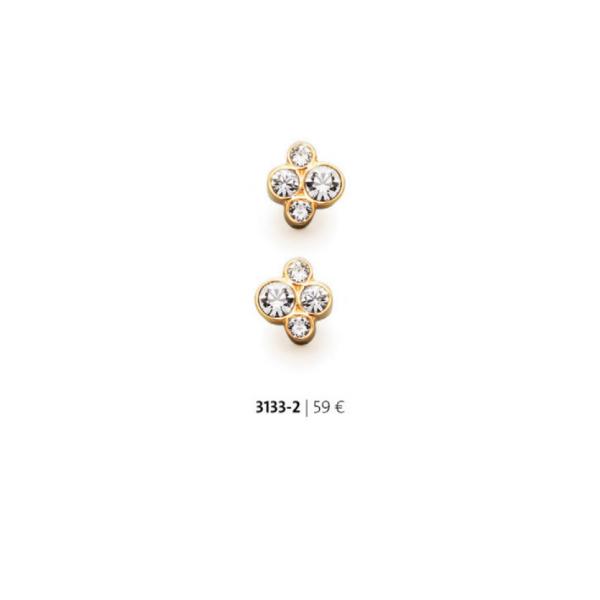 Cercei placati cu aur de 18 k cu cristale swarovski – cod 3133-2 Imagine 1