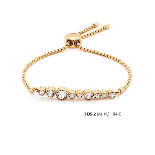 Bratara placata cu aur de 18 k cu cristale swarovski – cod 3135-2 Imagine 1