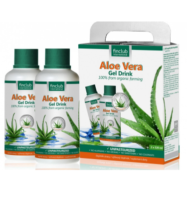 Aloe Vera gel drink – Gel organic 100% din aloe vera – 2 x 520 ml Imagine 1