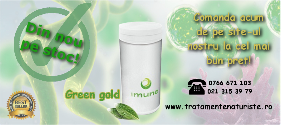 banner green gold imune