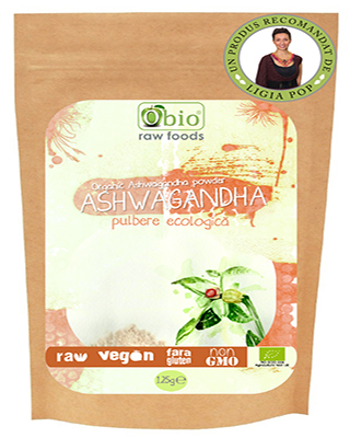 Ashwagandha pulbere bio 125g Imagine 1