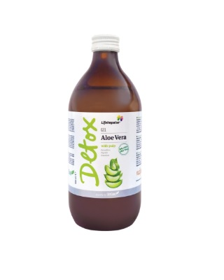 Life Impulse Gel Aloe Vera cu pulpa 500 ml Imagine 1