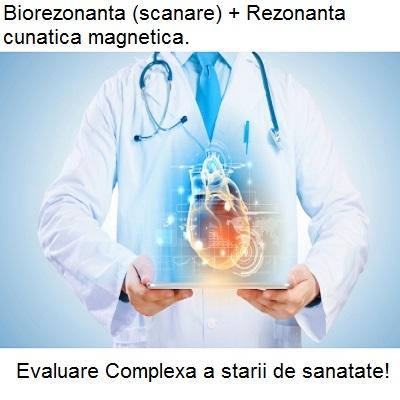 Biorezonanta (scanare) + Rezonanta cunatica magnetica (evaluare) Imagine 1