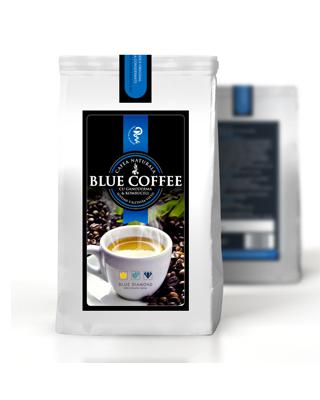 Blue Coffee – Cafea naturala 100% cu Ganoderma & Kombucell – 100 gr Imagine 1