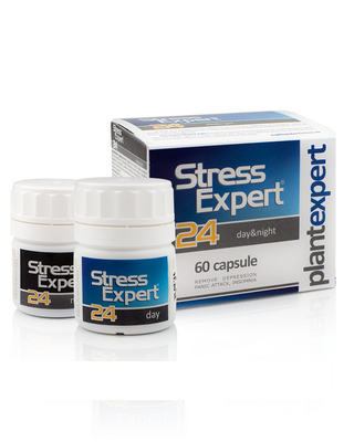 STRESS EXPERT 24 Day&Night – supliment antistress 100% natural – 60 capsule Imagine 1