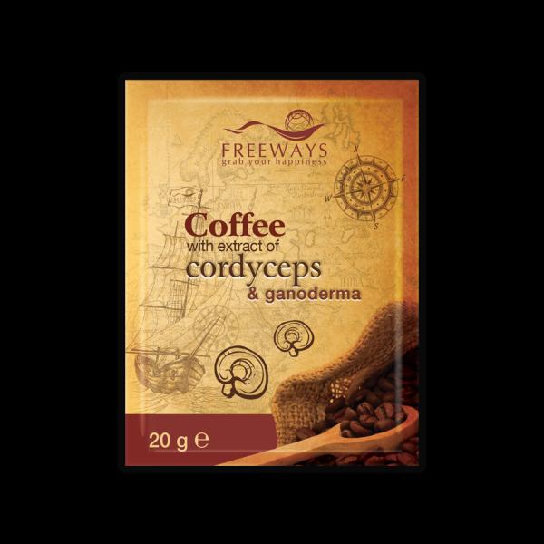Cafea terapeutică cu Cordyceps și Ganoderma (1 plic) Imagine 1