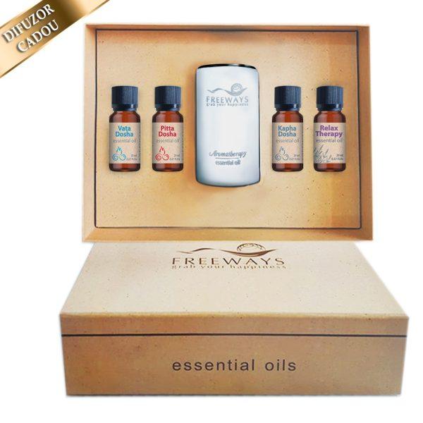 Set Essential Oils 1 (4×20 ml) +Difuzor Imagine 1