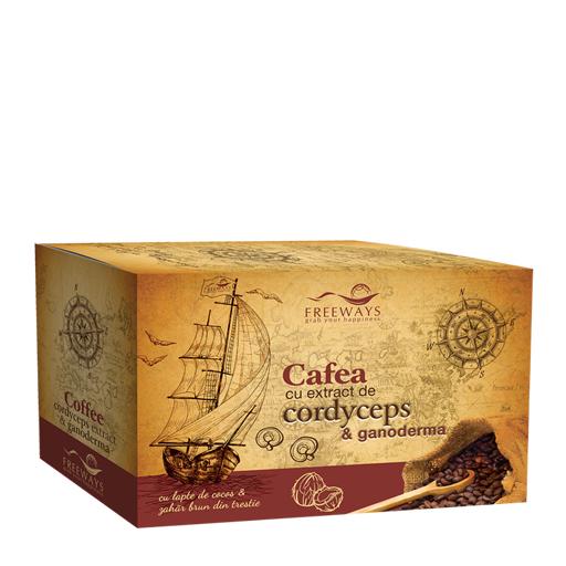 Cafea terapeutică cu Cordyceps și Ganoderma Imagine 1
