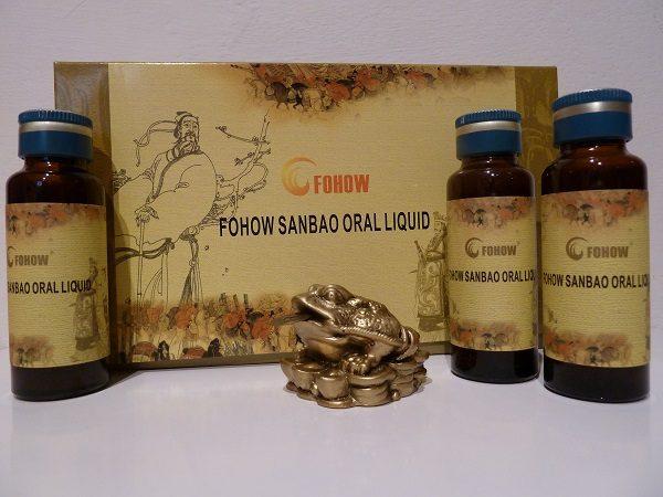 Fohow – Elixir Sanbao Cordyceps cu extract de furnica – pentru sistemul respirator si imunitate 4x30ml Imagine 1