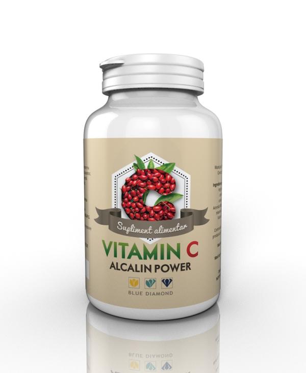 Blue Diamond Vitamina C Alcalin Power (60 cps) Imagine 1