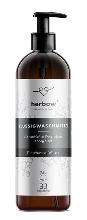 Detergent de rufe negre – Herbow (Bio) – Ebony Black 1000 ml Imagine 1