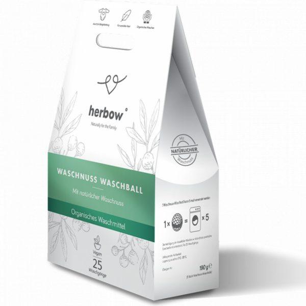 Minge cu nuca de sapun Herbow – 5 bucati / 25 spalari Imagine 1
